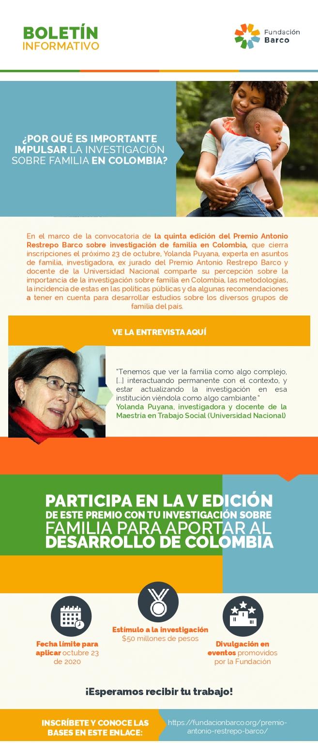 ¿POR QUÉ ES IMPORTANTE IMPULSAR LA INVESTIGACIÓN SOBRE FAMILIA EN COLOMBIA?