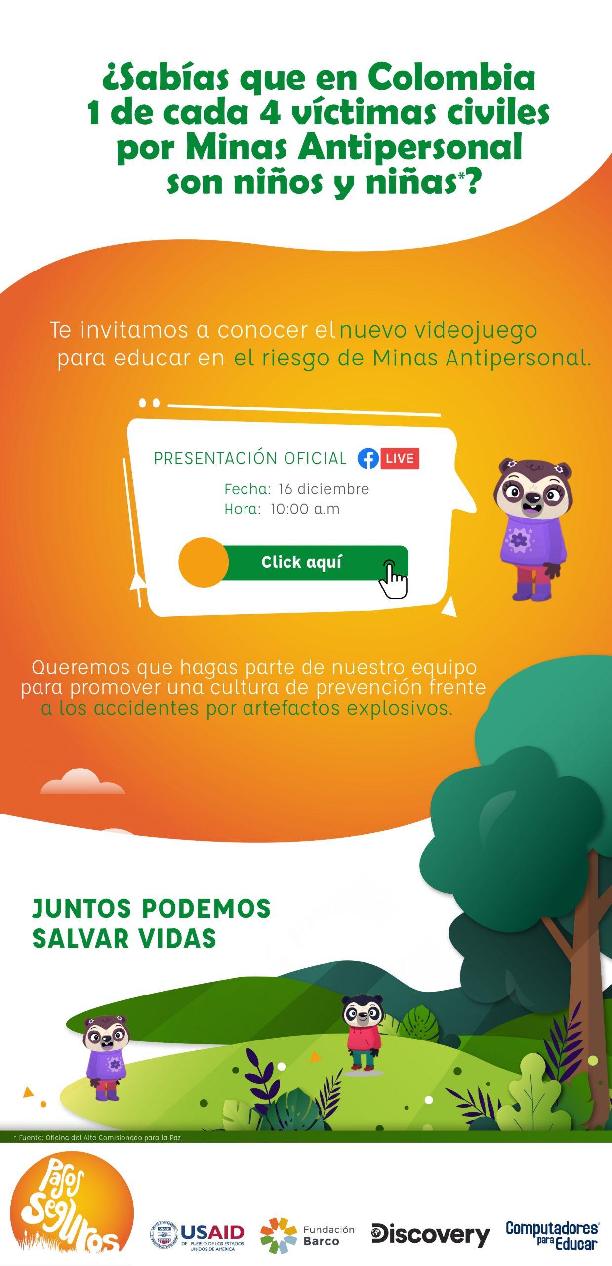 Invitación General FacebookLive VideoJuego